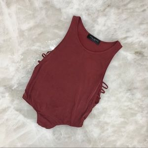 Deep Red Bodysuit